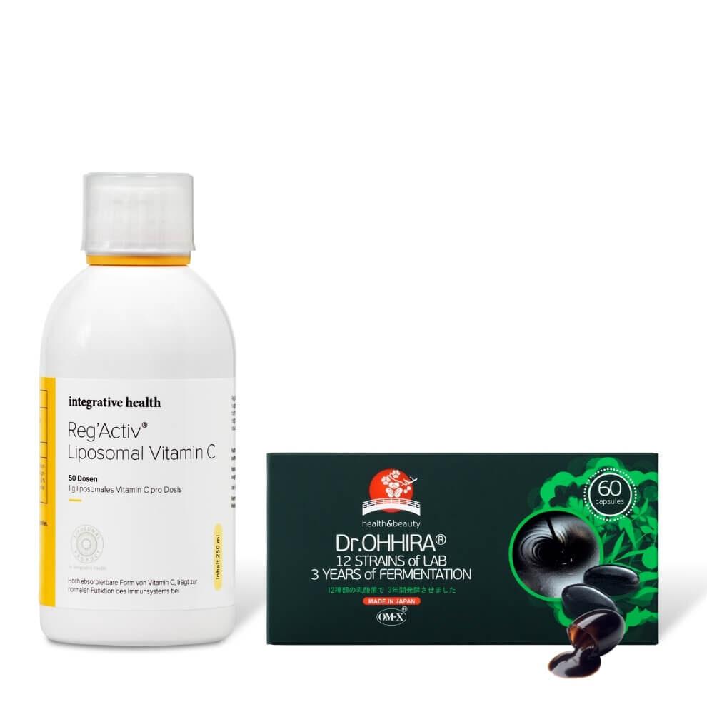 Integrative health lipsoomne c-vitamiin ja ohhira probiootikum n60